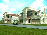 Architecture 824 VIlla Building 3D Model