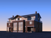 Architecture 826 VIlla Building 3D Model
