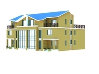 Architecture 827 VIlla Building 3D Model