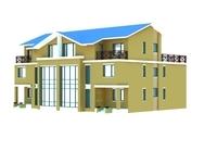 Architecture 827 VIlla Building 3D Model