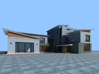 Architecture 832 VIlla Building 3D Model