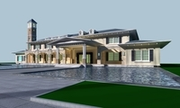 Architecture 834 VIlla Building 3D Model