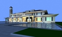 Architecture 835 VIlla Building 3D Model