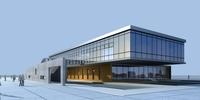 Architecture 836 office Building 3D Model
