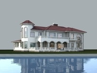 Architecture 837 VIlla Building 3D Model