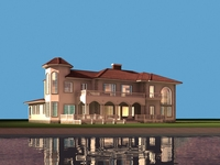 Architecture 838 VIlla Building 3D Model