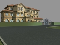 Architecture 842 VIlla Building 3D Model