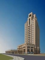 Architecture 843 Skyscraper office Building 3D Model