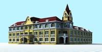Architecture 851 Hotel Building 3D Model