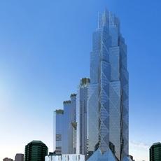 Architecture 853 Skyscraper Building 3D Model