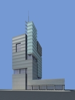 Architecture 856 Skyscraper Building 3D Model
