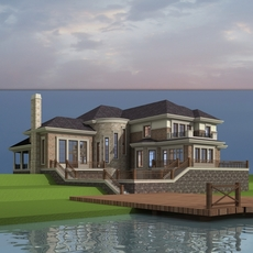 Architecture 857 VIlla Building 3D Model