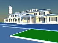 Architecture 858 VIlla Building 3D Model