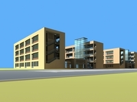Architecture 864 School Building 3D Model