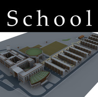 Architecture 867 School Building 3D Model