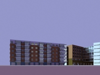 Architecture 871 multilayer Residential Building 3D Model