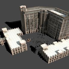 Architecture 872 Hotel Building 3D Model