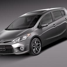Kia Forte Hatchback 5door 2014 3D Model