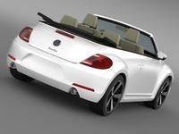 VW Beetle Turbo Cabrio 3D Model