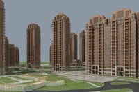 Architecture 894 High Rise Residential Building 3D Model