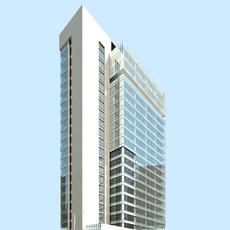 Architecture 898 Skyscraper Building 3D Model