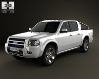 Ford Ranger Double Cab 2003 3D Model