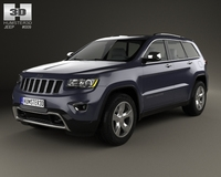 Jeep Grand Cherokee Overland 2014 3D Model