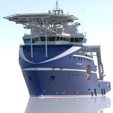 Anchor Handling Tug Rem Gambler 3D Model