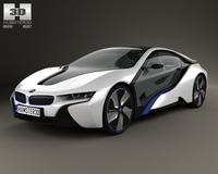 BMW i8 2013 3D Model