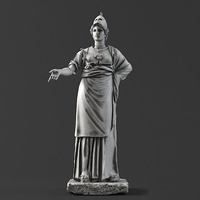 Sculpture 10 Athena 3D Model
