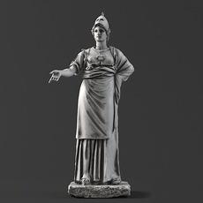 Sculpture 10 Athena 3D Model