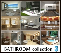 Bathroom s collection 3 3D Model