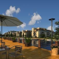 Multi Residential Building 001 3D Model