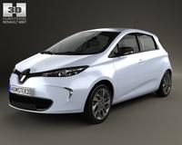 Renault Zoe 2013 3D Model