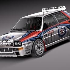 Lancia Delta HF Integrale Rally 3D Model