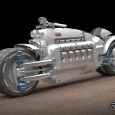 Dodge Tomahawk concept 3D Model