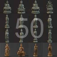 50 Kwan-yin s 3D Model