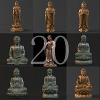 20 Sakyamuni Buddha 3D Model
