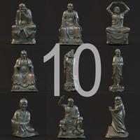 10 Buddist arhat 3D Model