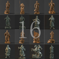 16 Guan Yu 3D Model