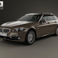 BMW 5 Series (F11) touring 2014 3D Model