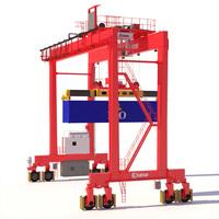 RTG Gantry Crane Kalmar 3D Model