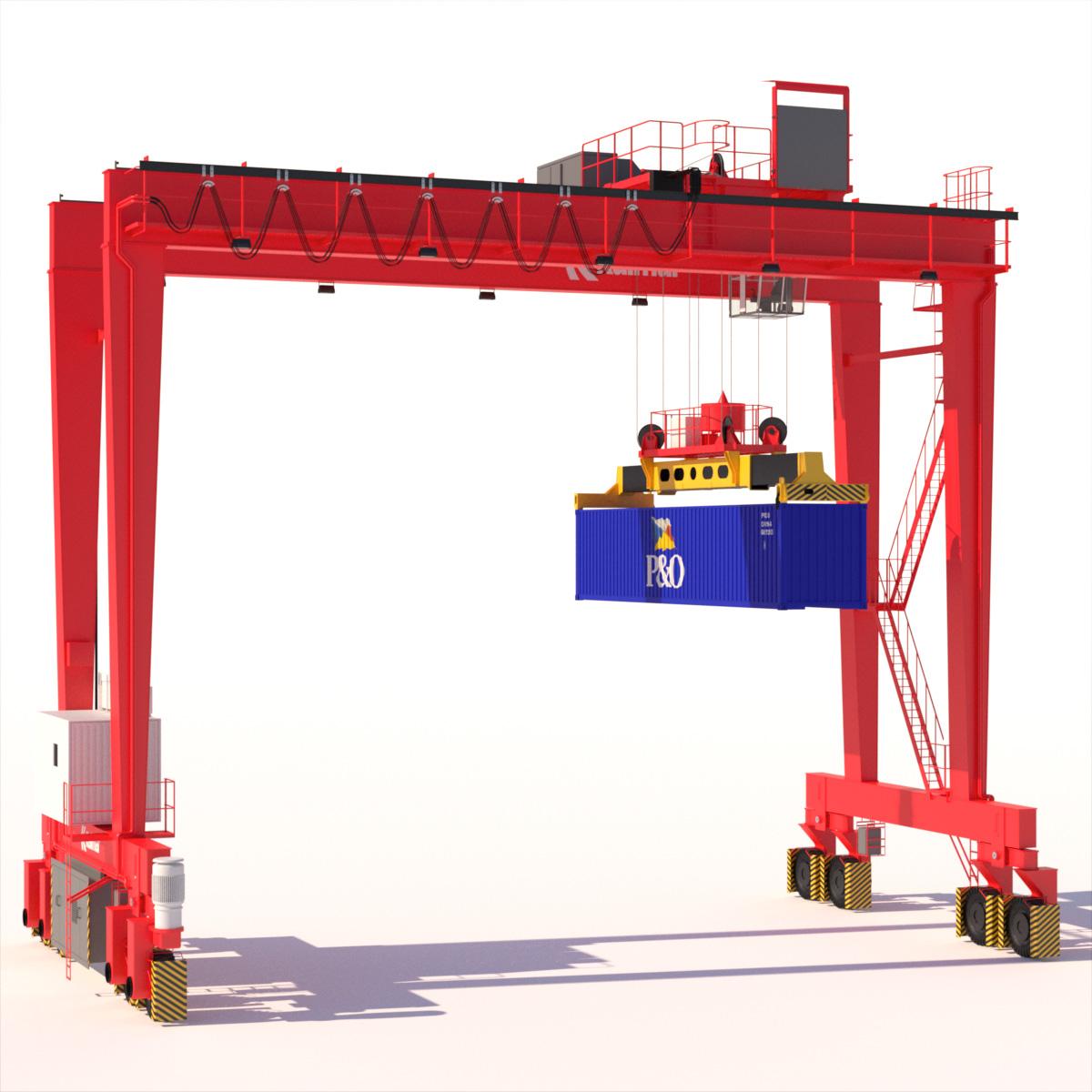 Rtg Models: RTG Gantry Crane Kalmar 3D Model