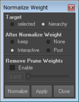 Free mo_NormalizeWeightWithoutMiscalculate for Maya 1.0.1 (maya script)