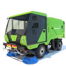 Street Sweeper Scarab 3D Model