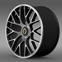 Porsche 911 Turbo S 2013 rim 3D Model