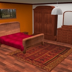 Classic Bedroom 3D Model