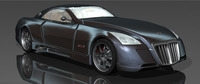 Maybach Exelero RIGGED 3D Model