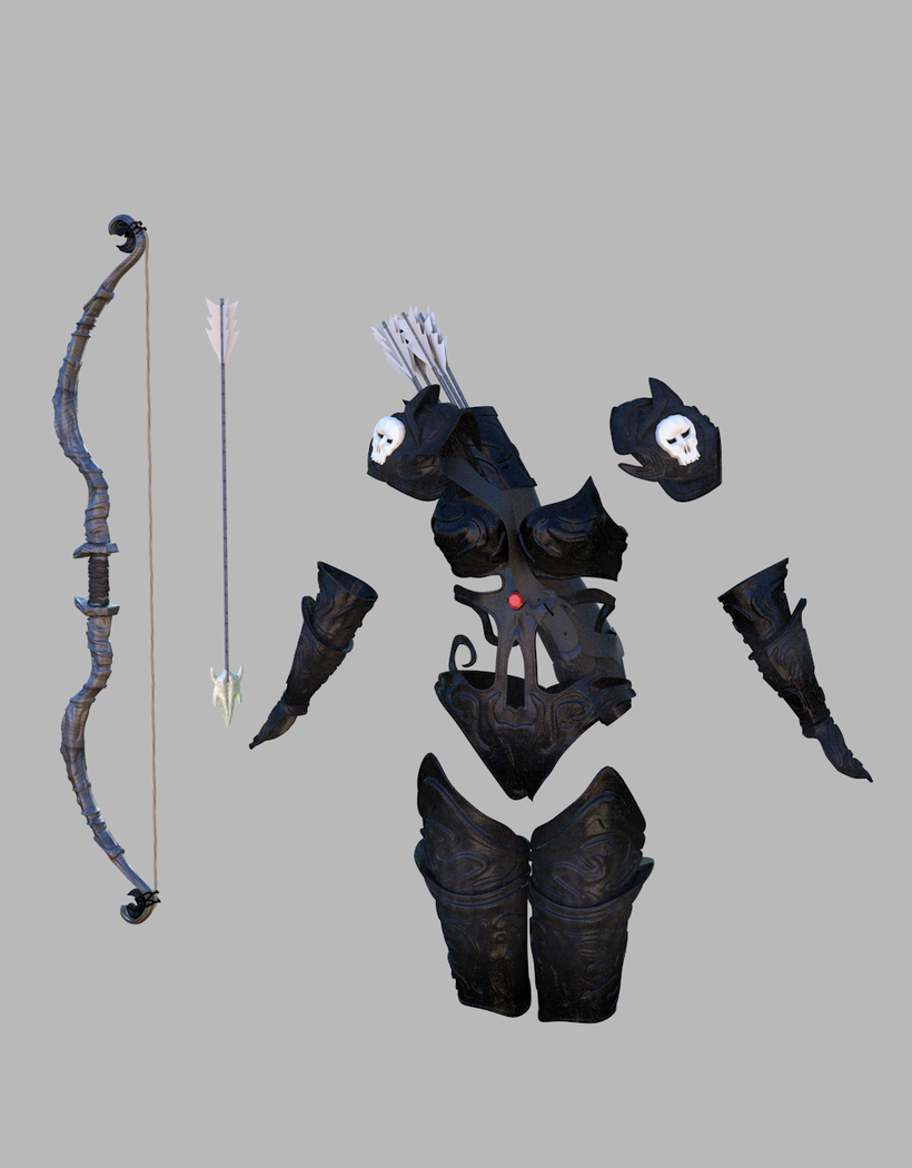 Fantasy archers armor 3D Model