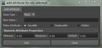 Free add attribute for Maya 1.0.0 (maya script)